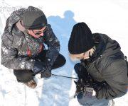Malý ňufko na prvom snehu