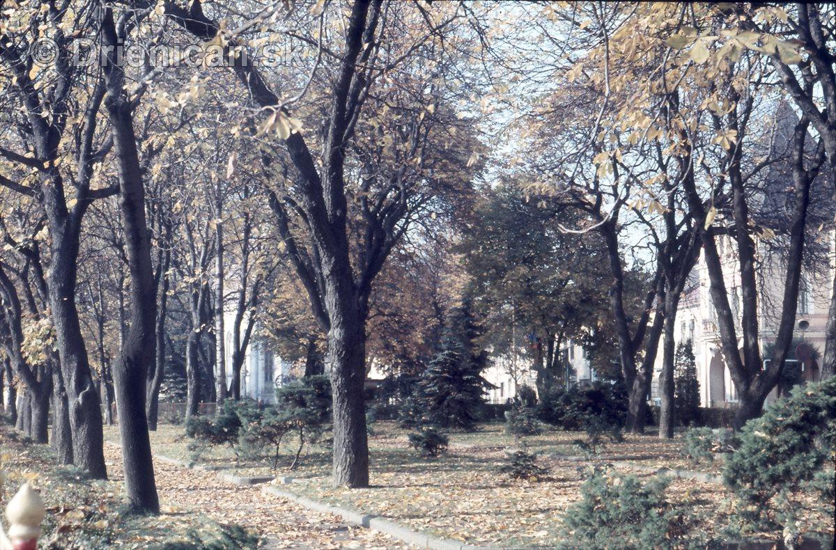 Jeseň v Sabinovskom parku.