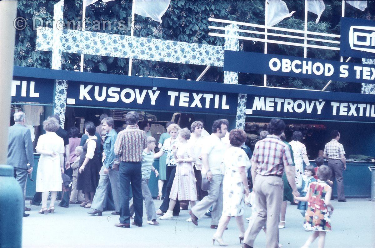 Otex-obchod s textilom na Sabinovskom jurmaku.
