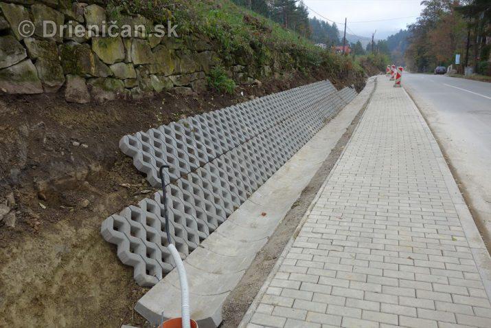 Výstavba chodníka Drienica-Gacky
